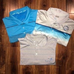 Bundle 3 - Adidas Golf wicking golf polo shirts XL